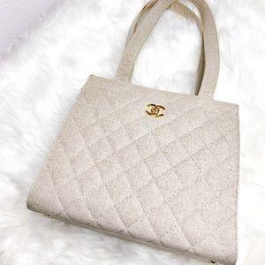 Vintage Chanel Canvas Handbag